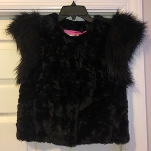 Target Faux-Fur Vest Black MSRP $80 New Women/'s Skaist Taylor Neiman Marcus